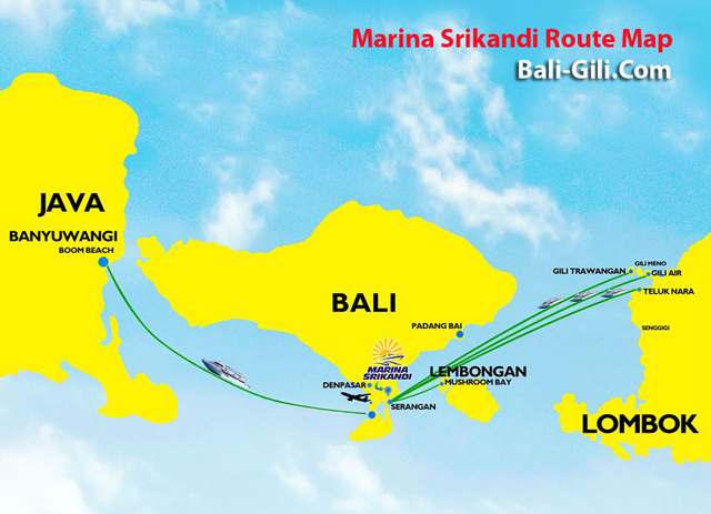 Marina Srikandi Transfer Route